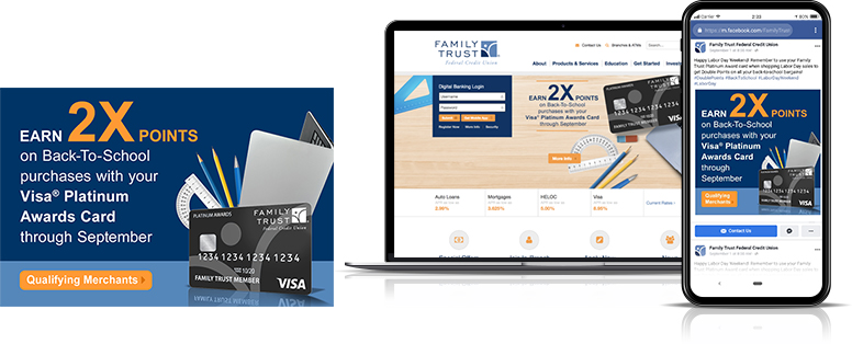 2x points visa digital marketing Family Trust Federal Credit Union
