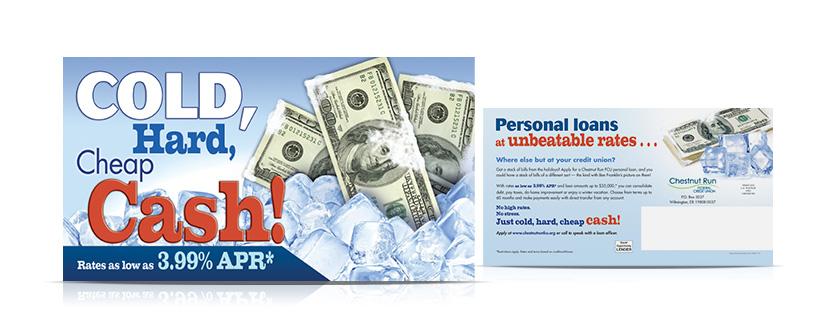 Personal Loans Postcard CRFCU