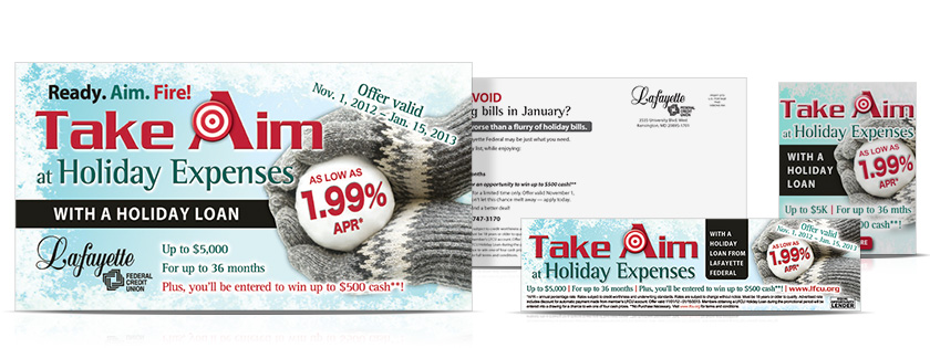 Take Aim Holiday Loan Campaign Lafayette Federal