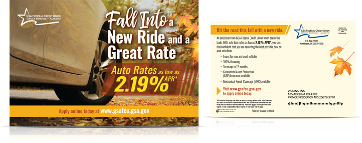 fall auto loan GSA Federal Credit Union