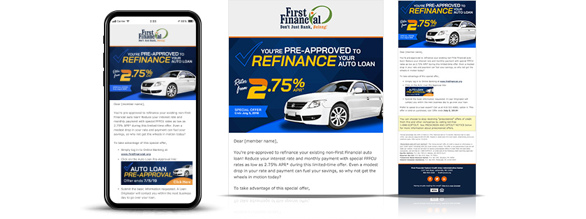 first financial federal credit union auto pre approval email