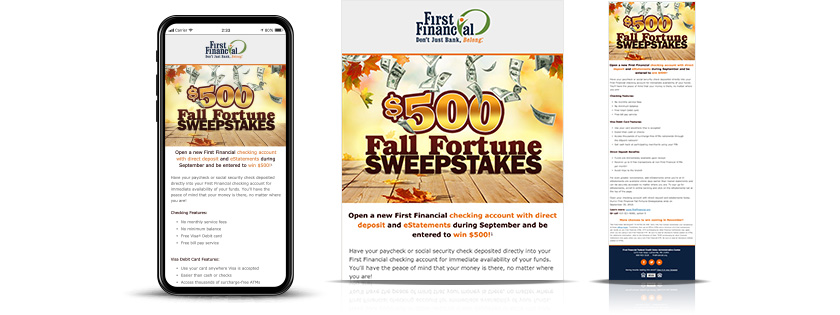 first financial federal credit union email fall sweepstakes