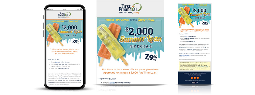 first financial federal credit union summer loans email
