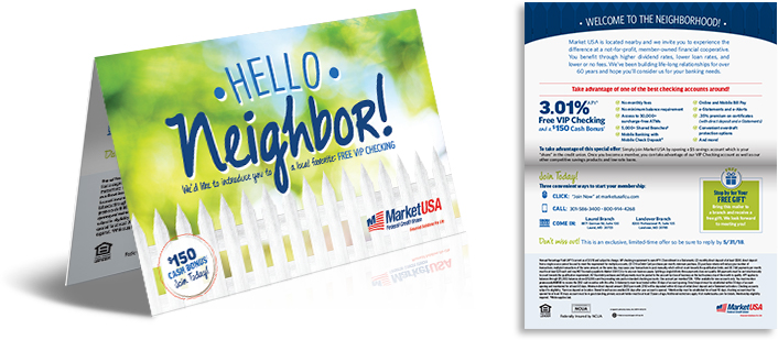 hello neighbor direct mailer Market USA Federal Credit Union