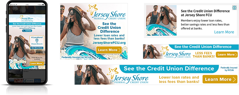 membership digital marketing Jersey Shore Federal Credit Union