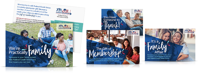 membership series direct mailer Edu Federal Credit Union