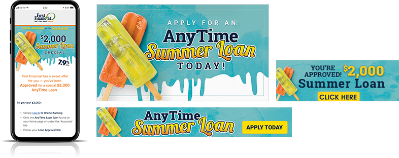 summer loan digital marketing First Financial Federal Credit Union