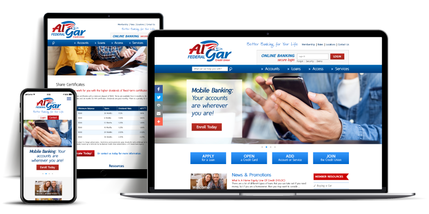website Al Gar Federal Credit Union