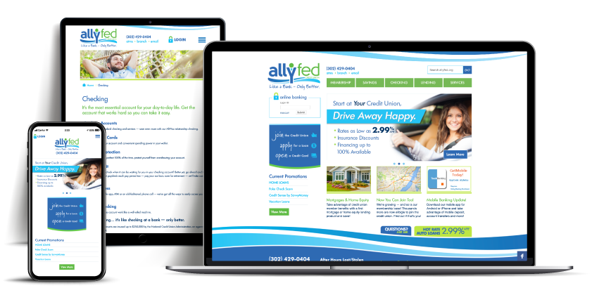 website AllFed Credit Union
