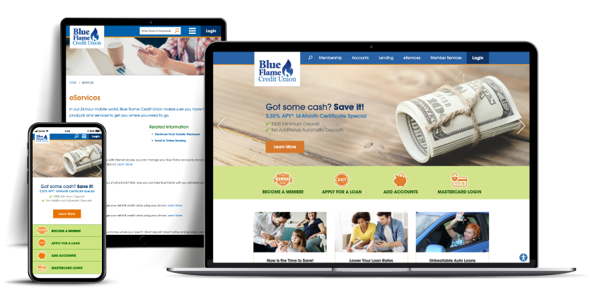 website Blueflame Credit Union