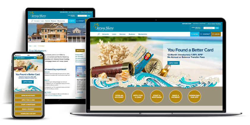 website Jersey Shore Federal Credit Union