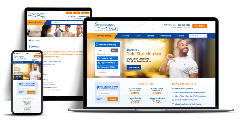 website Susquehanna Valley Credit Union